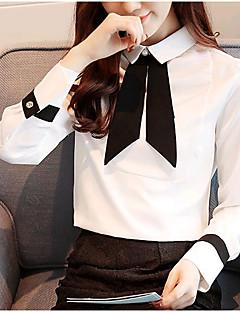 cheap Women's Shirts-Women's Cute Shirt - Solid Colored Shirt Collar