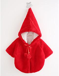 billige Jakker og frakker til piger-Pige dun- og bomuldsforet Ensfarvet, Bomuld 3/4-ærmer Afslappet Rød Lyserød Beige