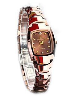 女性用 腕時計用ギフトボックス カジュアルウォッチ ファッションウォッチ ドレスウォッチ ブレスレットウォッチ リストウォッチ ユニークなクリエイティブウォッチ ダミー ダイアモンド 腕時計 日本産 クォーツ クリスタル クロノグラフ付き 耐水 模造ダイヤモンド ステンレス