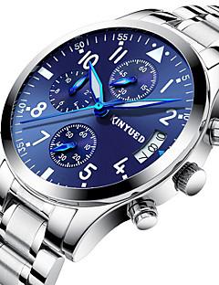 Heren Vrijetijdshorloge Sporthorloge Modieus horloge Dress horloge Militair horloge Polshorloge Swiss Kwarts Kalender Chronograaf s