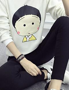 tanie Damskie bluzy z kapturem-Damskie Długi rękaw Długi activewear Set Nadruk
