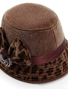 レディース 冬 カジュアル ポリエステル フラワー フェドーラ帽 リボン