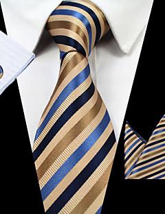 billige Slips og sløyfer-Herre Stripet Slips,Alle årstider Stripet Polyester Regnbue