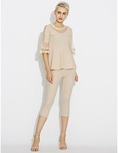 Women's Daily Simple Spring Blouse Pant Suits
