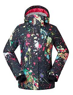 お買い得  スキーウェア-GSOU SNOW 女性用 スキージャケット ウォーム 防水 防風 耐久性 通気性 スキー 環境に優しい ポリエステル 絹布