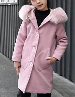 女の子 ソリッド ポリエステル ジャケット&コート 長袖
