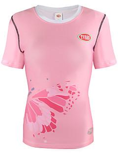 billige Løbetøj-Dame Løbe-T-shirt Kortærmet Hurtigtørrende, Åndbarhed Sweatshirt / Toppe for Rekreativ Cykling / Cykling / Cykel / Løb Terylene Lys pink