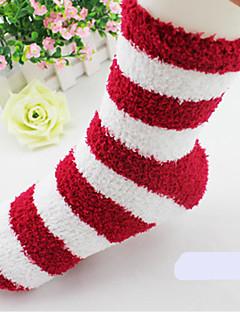 billige Sokker og strømper til damer-Dame Sokker - Stripet Normal