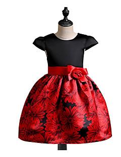 Χαμηλού Κόστους Girls' Party Wear-Κορίτσια Φόρεμα Βαμβάκι Πολυεστέρας Καθημερινά Άνοιξη, Φθινόπωρο, Χειμώνας, Καλοκαίρι Κοντομάνικο Καθημερινό Μαύρο