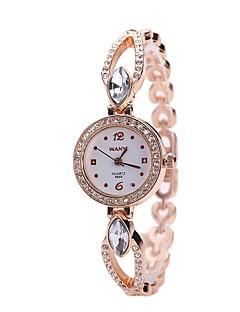 baratos -Mulheres Relógio Elegante Bracele Relógio Relógio de Pulso Simulado Diamante Relógio Chinês Quartzo imitação de diamante Liga de Metal