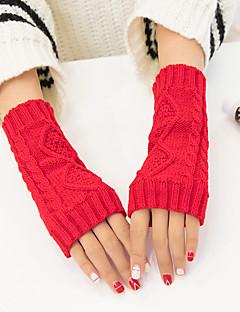 billige Vintertilbehør-Unisex Fritid Håndleddslengde Halv Finger,Vinter Solid Akryl