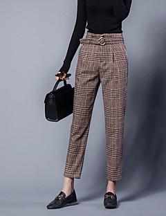 billige Nederdele og bukser til damer-Dame Chinos Bukser Stribet Højtaljede