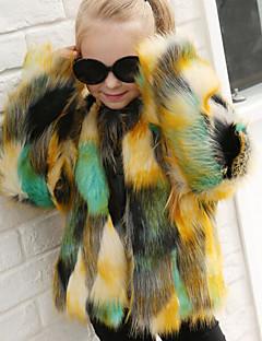 ieftine -Pentru femei Rotund Regular Palton Piele Zilnic Simplu Casual Toamnă Imprimeu Bumbac
