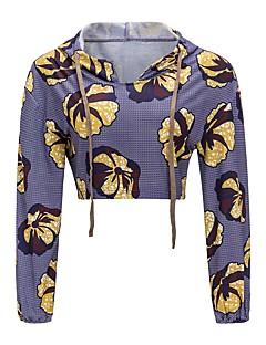 tanie Damskie bluzy z kapturem-Damskie Boho Długi rękaw Bluza z Kapturem Nadruk