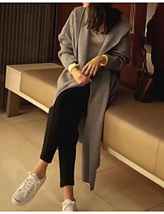 tanie Swetry damskie-Damskie Kaptur Długi Rozpinany Jendolity kolor Długi rękaw