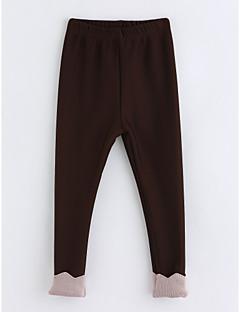 hesapli İndirimli Satışlar-Genç Kız Pamuklu Kırk Yama Kış Pantolon Kahverengi