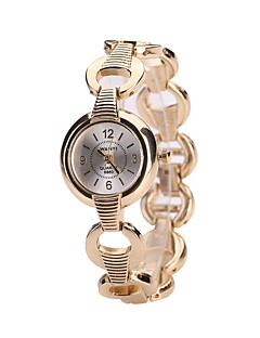 Dames Dress horloge Armbandhorloge Polshorloge Chinees Kwarts Legering Band Luxe Informeel Bangle Zilver Goud