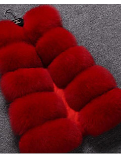 Damen Druck Einfach Lässig/Alltäglich Weste Winter Langarm Standard Baumwolle