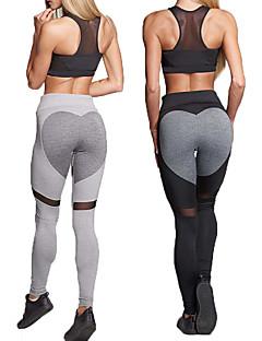 baratos -Ioga Meia-calça Calças Ioga Fitness Elasticidade Alta Elasticidade Alta Moda Esportiva Mulheres-丰途