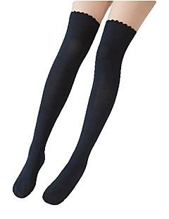 cheap Lolita Fashion Costumes-Thigh High Socks Socks / Long Stockings Sweet Lolita Dress Women's Cyan Red Black (iPhone4) White Pink Lolita Accessories Solid Striped