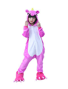 Kigurumi Pyjamas Enhjørning Pegasus Kostume Rose Kigurumi Trikot / Heldraktskostymer Cosplay Festival / høytid Pysjamas med dyremotiv