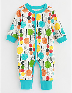Baby Einzelteil Mit Mustern Baumwolle Herbst Langarm