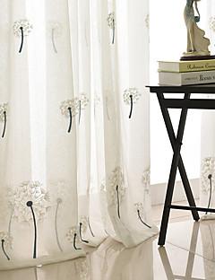 billige Gjennomsiktige gardiner-Ren Økovennlig Innendørs Panel 2*(W183cm×L213cm) / Broderi / Soverom / Gardiner Skygge
