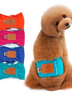 billiga Hundkläder-Hund Byxor Hundkläder Enfärgad Grön / Blå / Rosa Cotton / Tvättbar Kostym För husdjur Herr Ledigt / vardag