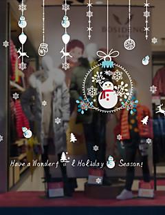 Hayvan Noel Pencere Çıkartması Malzeme pencere Dekorasyonu