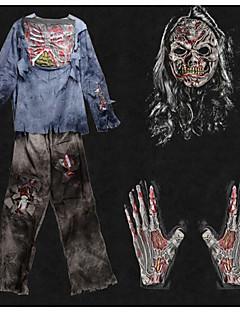 Luuranko/Pääkallo Zombie Cosplay Cosplay-Asut Miehet Unisex Halloween Karnevaali Kuolleiden päivä Festivaali/loma Halloween-asut Musta