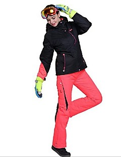 billiga Skid- och snowboardkläder-Phibee Skidjacka och -byxor Dam Skidåkning Varm Vattentät Vindtät Bärbar Mateial som andas Antistatisk Polyester Klädesset