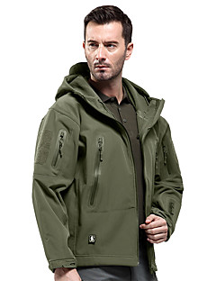 cheap Outdoor Clothing-Men's Hiking Softshell Jacket Outdoor Winter Waterproof Windproof Wearable Breathable Tactical Fleece Softshell Softshell Jacket Jacket
