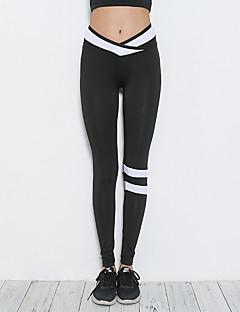billige Løbetøj-Dame Løbetights Sport Tights Yoga, Pilates, Træning & Fitness Yoga & Danse Sko, Fitness Stribe, Mode