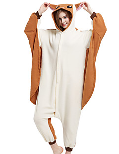 billige julen Kostymer-Kigurumi Ekorn Mus Flyvende ekorn Onesie-pysjamas Kostume Polar Fleece Brun Cosplay Til Pysjamas med dyremotiv Tegnefilm Halloween