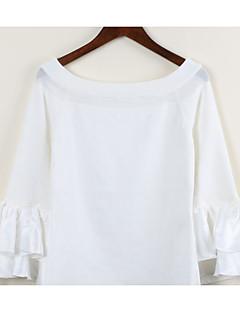 baratos Suéteres de Mulher-Mulheres Sólido Para Noite Casual Fofo Sensual Suéter Pulôver,Decote U Manga Longa Primavera Outono