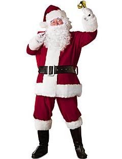 billige julen Kostymer-Nisse drakter / julenissen Cosplay Kostumer / Julefest Tilbehør Herre Jul Festival / høytid Halloween-kostymer Rød Lapper