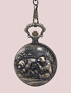 billige Par Ure-Par Lommeure Kinesisk Hul Indgravering / Afslappet Ur / Sej Legering Bånd Luksus / Afslappet Bronze