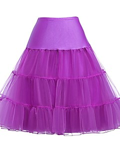 billiga Lolitamode-Klassisk / Traditionell Lolita Prinsess Lolita Dam Kjolar Underkjol Cosplay Gul / Röd / Rosa Knälång Kostymer