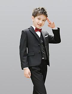 abordables Trajes de Pajecito-Burdeos Negro Azul Marino Oscuro 100% Algodón Vestido de Padrino - 5 Incluye Chaqueta Chalecos Camisas Pantalones Pajarita