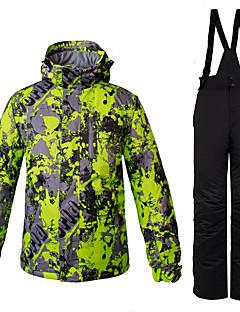 Heren Ski-jack & broek Warm Winddicht waterbestendig Wandelen Meerdere Sporten Wintersporten Freeride Sneeuwsporten Polyester 100% katoen