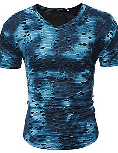 お買い得  メンズファッション&ウェア-男性用 Tシャツ Vネック スリム カモフラージュ コットン