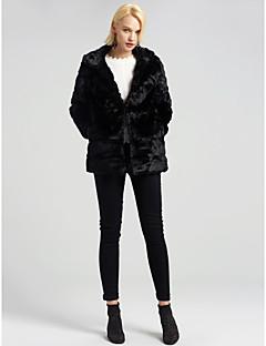 Χαμηλού Κόστους -Γυναικεία Παλτό Εξόδου Μοντέρνα / Κομψό - Μονόχρωμο Ψεύτικη Γούνα