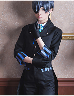 cheap Anime Costumes-Inspired by Black Butler Ciel Phantomhive Anime Cosplay Costumes Cosplay Suits Other Cravat Coat Vest Blouse Pants Gloves Socks Eye Mask