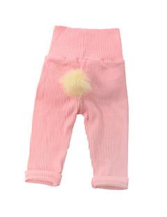 billige Bukser og leggings til piger-Pige Bukser Daglig Ensfarvet, Bomuld Alle årstider Langærmet Sødt Lyserød Lysegrøn Kakifarvet