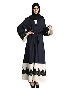 baratos Costumes étnicas e Cultural-Moda Abaya Vestido árabe Mulheres Festival / Celebração Trajes da Noite das Bruxas Azul Outro