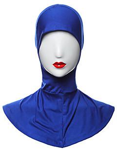 baratos Costumes étnicas e Cultural-Fantasias Egípcias Hijab / Khimar Mulheres Festival / Celebração Roupa Roxo Claro / Marron / Azul Sólido