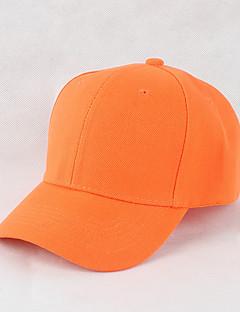 billige Trendy hatter-Unisex Kontor Fritid Baseballcaps Solhatt,Alle årstider Ensfarget Bomull Elegant Svart Oransje Rød Rosa Grå