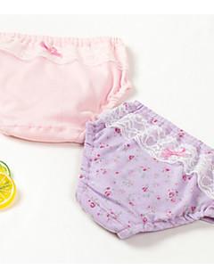billige Undertøj og sokker til piger-Pige Undertøj Ensfarvet Prikker, Bomuld Vinter Simple Mikroelastisk Lyserød Lilla