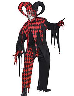 billige Voksenkostymer-Burlesk / Klovn Cosplay Kostumer Herre Halloween Festival / høytid Halloween-kostymer Svart Pledd / Tern