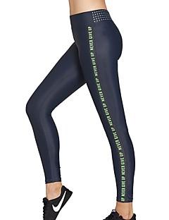 billiga Träning-, jogging- och yogakläder-Dam Joggerbyxor / Löparbyxor - Rosenröd, Grön sporter Bokstav Elastan Byxa / Leggings Sportkläder Mateial som andas